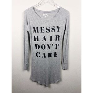 Other - Messy Hair Don't Care Thermal Night Gown Shirt XS